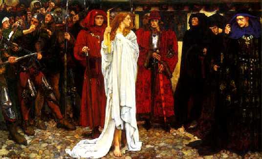 Edwin Abbey's depiction of Eleanor's penance