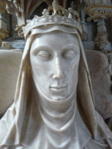 Detail from upper effigy of Alice's tomb (a cadaver effigy is below it)