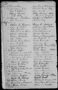 Marriage record for John and Eliza Holohan
