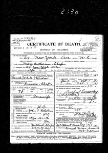 Mary Shafer death certificate