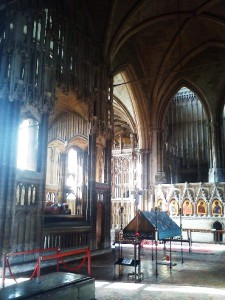 Interior of Winchester Cathedral, St Swithin's Shrine