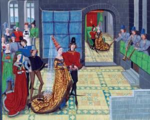 Mariage de François II avec Marguerite de Bretagne au château de l'Hermin à Vannes. (2)