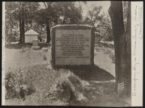 Grave of Ann Rutledge (courtesy of Library of Congress)